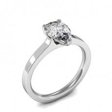 Bague de fiançailles solitaire diamant poire serti 3 griffes - HMSR728_01