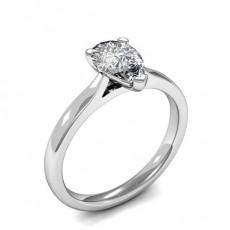 Bague de fiançailles solitaire diamant poire serti 3 griffes - HMSR799_01