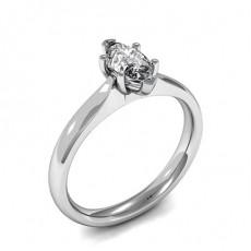 6 Prong Setting Marquise Diamond Plain Engagement Ring - HMSR815_01