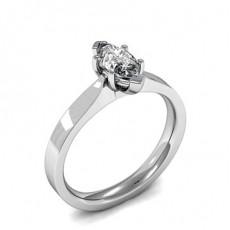 6 Prong Setting Marquise Diamond Plain Engagement Ring - HMSR818_01