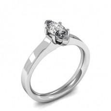 6 Prong Setting Marquise Diamond Plain Engagement Ring - HMSR820_01