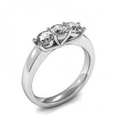 Prong Setting Plain Three Stone Ring - HMTR3229_01