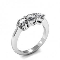 Prong Setting Plain Three Stone Ring - HMTR3278_01