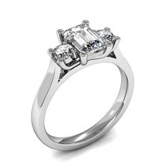 4 Prong Setting Plain Three Stone Ring - HMTR3343_01