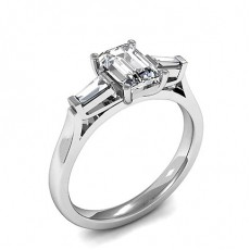 Mixed Shapes Diamond Rings Three Stone