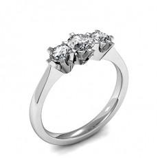 Brilliant Diamond Rings Three Stone