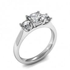Drei Diamanten in einer Krappenfassung - HMTR3399_01