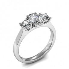 Gemischte Formen Platin Diamond Rings Three Stone