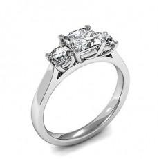 Drei Diamanten in einer Krappenfassung - HMTR3405_01