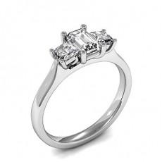 4 Prong Setting Plain Three Stone Ring - HMTR3409_01