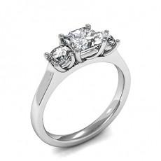 Drei Diamanten in einer Krappenfassung - HMTR3421_01