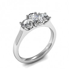4 Prong Setting Plain Three Stone Ring - HMTR3422_01