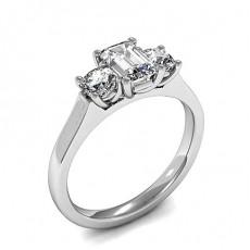 4 Prong Setting Plain Three Stone Ring - HMTR3423_01