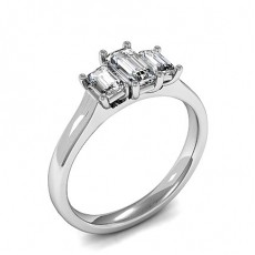 4 Prong Setting Plain Three Stone Ring - HMTR3430_01