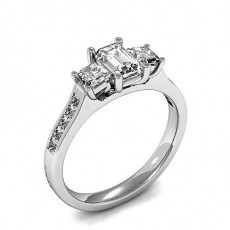 4 Prong Setting Studded Three Stone Ring - HMTR3438_01