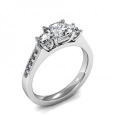 Drei Diamanten in einer Krappenfassung - HMTR3441_01