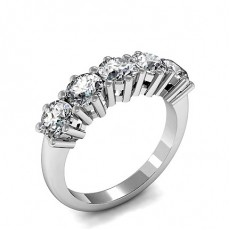 6 Prong Setting Plain Five Stone Ring