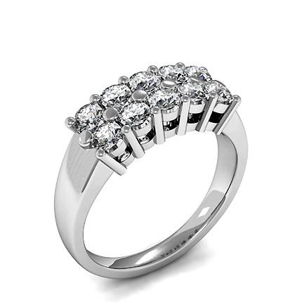 Runder Diamant Mode Ring in einer Zargenfassung