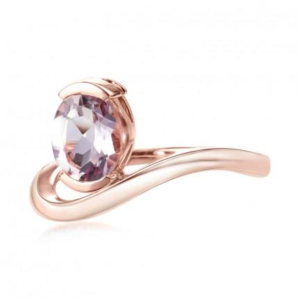 Sacet Belle Oval Pink Amethyst Ring - ALTR04_RV