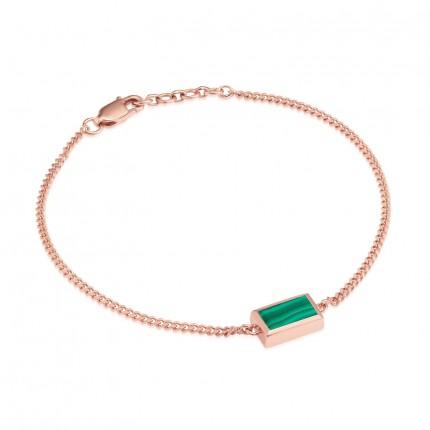 Sacet Ornate Rectangular Malachite Bracelet - BLDB03_RV