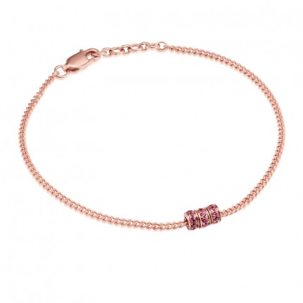 Sacet Ornate Garnet Bead Bracelet - BLDB04_RV