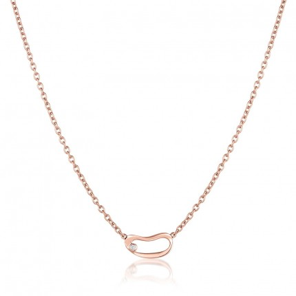 Sacet Marque Small Hoop Necklace - MRQN02_RV